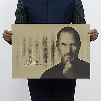 Steve Jobs Vintage Kraft Paperi Juliste Home / School Office Art Magazines Sisustus