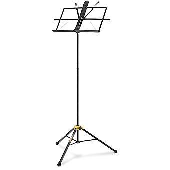 Hercules bs100b music stand with ez desk, glide and angle roller
