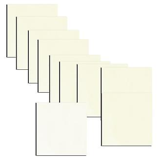 Frost hvit dobbeltsidig perlepapir setter inn 130 x 130 mm