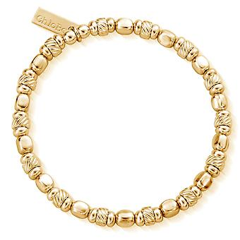 כלובו GBTCUBE נשים & apos;קוביה מעוותת גוון זהב צמיד