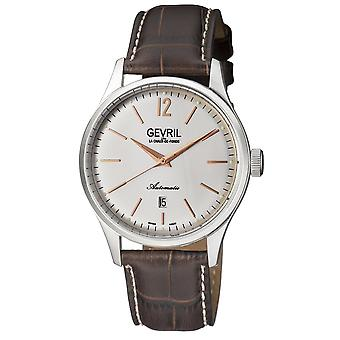 Gevril Men's Five Points Watch with Leather Strap