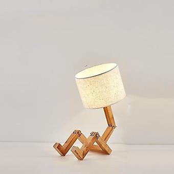 Nieuwe Houten Robot Vorm klaptafellamp, Creatieve Europese mode