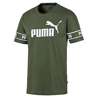 Puma wzmacniany duże Logo moda mężczyźni Fitness szkolenia T-Shirt zielony