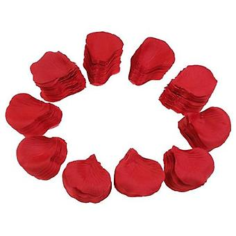 500pcs Lifelike Fake Artificial Silk Red Rose Petals Decorations For Wedding
