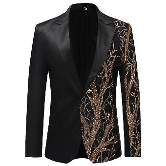 Blazer Jacket Men Party Hip Hop Coat Fashion