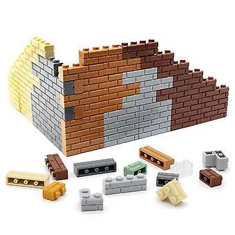 4 Bodky domy nástenné stavebné bloky - Micro Cube diely