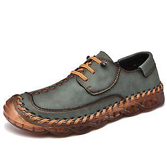 Zapatos Casual para Hombre Mocasines de Cuero 587 Verde