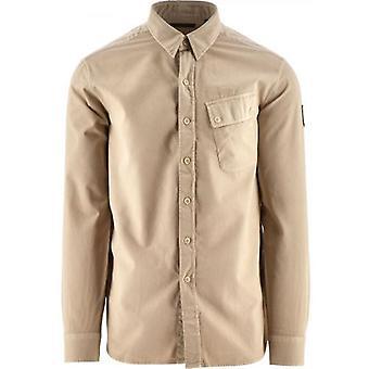 Belstaff Stone Valkoinen Piki Twill paita