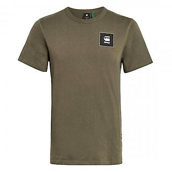 G-Star Badge Logo Slim T-Shirt Combat Green D18197 C336