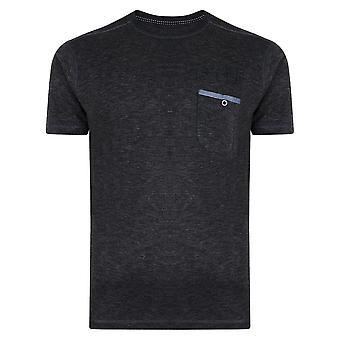 KAM Jeanswear Melange Slub Crew Neck T- Shirt