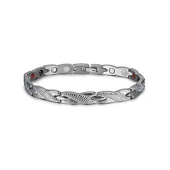 Health Energy Bracelet Male, Cross Stainless Steel, Magnetic Men Gold-color