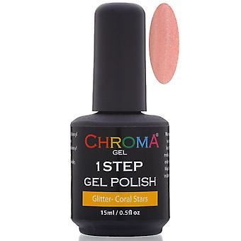 Chroma Gel One Step Gel Polish - Coral Stars