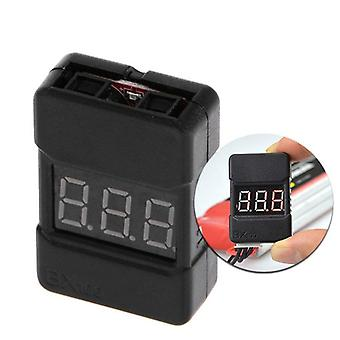 BX100 1-8S Lipo Battery Voltage Tester/ Low Voltage Buzzer Alarm/ Battery Voltage Checker with Dual