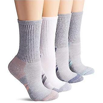 Essentials Grigio 6-Pack Performance Cotone Ammortizzato Athletic Crew Calze, Grigio, Misura scarpa: 6-9