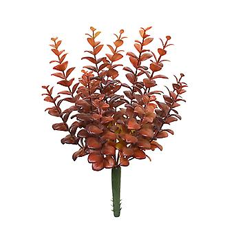 Bouquet di finto eucalipto artificiale 30 cm bordeaux