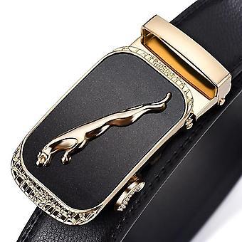 Cintos de cinta de couro genuínos da marca de luxo masculino