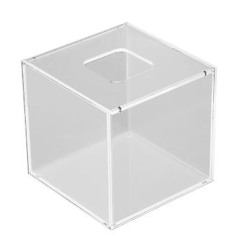 Transparent Acrylic Square Tissue/Paper Box Cover 12.5 x 12.5 x 12cm