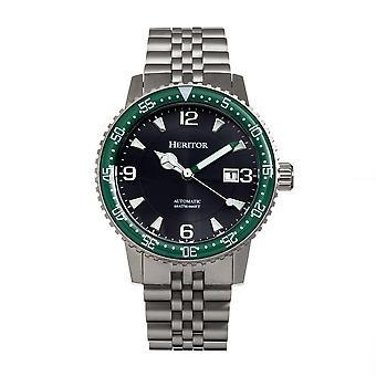 Heritor Dominic Automatic Black Dial Men's Watch HERHR9803