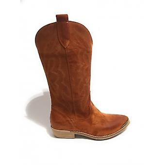 Women's Shoes Elite Texan Boot Embroidered In Suede Leather Color Leather Ds20el06