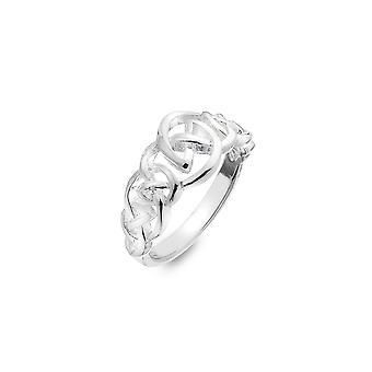 טבעת כסף סטרלינג - קשר מחודד קלטי