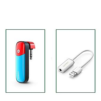 Bluetooth 5.0 Transmitter 3.5mm Audio Adapter