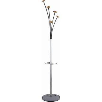 Alba Garderobenstnder FESTIVAL/PMFEST 187x38 cm metallicgrau Metall/Holz