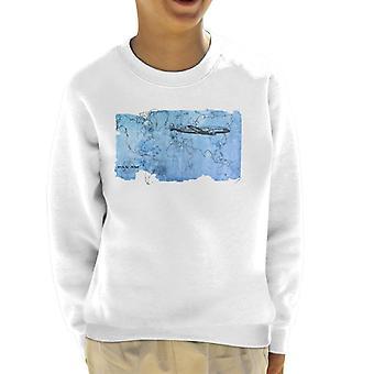 Pan Am World Map Kid's Sudadera