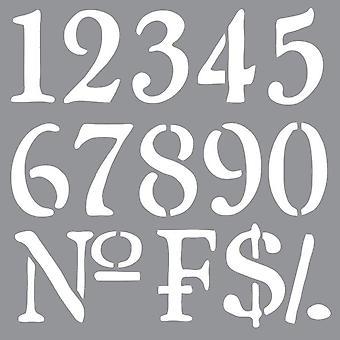 Decoart Stencil - Gamla världsnummer