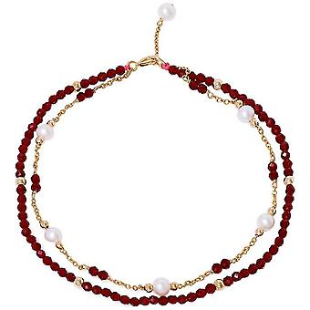 Pearls of the Orient Clara Red Spinel Fine Double Chain Bracelet - Red
