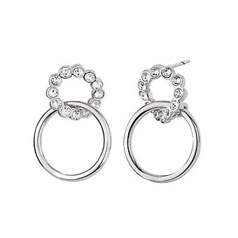 Traveller Drop Earrings Rhodium Plated Crystals From Swarovski - 157249 - 621