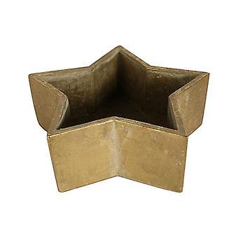 henrique flower pot 27 cm earthenware gold
