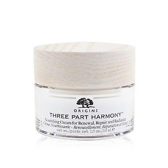 Origins Three Part Harmony Nourishing Cream For Renewal, Repair & Radiance 50ml/1.7oz