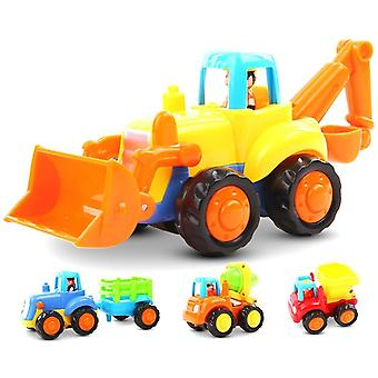 Friction Powered Cars Push and Go Toys For Boys And Girls, 4 sets véhicules de construction