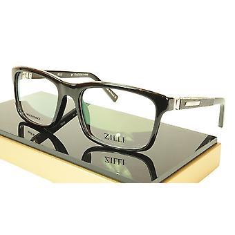 ZILLI glasögon Ram Acetate Läder Titanium Frankrike Handgjord ZI 60001 C03
