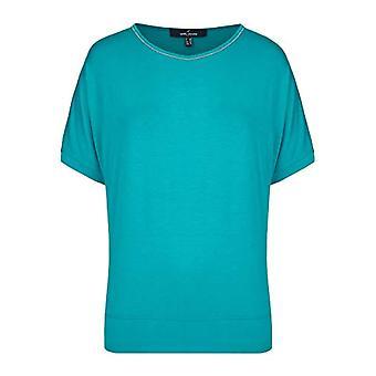 Daniel Hechter T-Shirt with Detail, Blue (aquamarin 600), 50 (Size Producer: 44) Woman