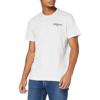 Tommy Jeans Tjm Chest Corp Tee Shirt, Silver Grey Htr, XL Men's