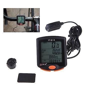 BoGeer YT-813 Imported Sensors LCD Backlit Bicycle Speedometer Odometer Computer Rainproof