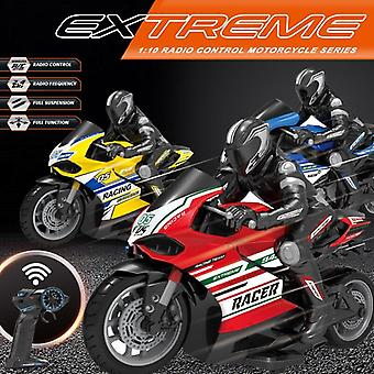 Remote Control Motorcycle 25KM/H 4 Channels Racing Electric Off Road Vehicle RC Car Toys(Yellow)