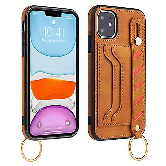 Leather wallet case for samsung s20 khaki pns-2160