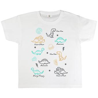 Popgear Pojkar Hungriga Dinosaurier T-Shirt