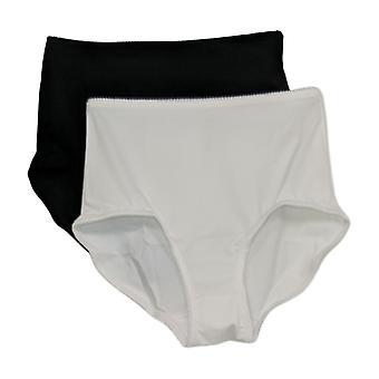 Rhonda Shear Panties 2-Pack Smoothing Brief Black 741378