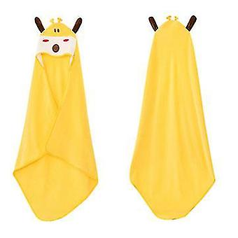 Galben animal cu glugă prosop pentru copii washclothtoddler premium bumbac absorbant halat de baie pentru fete băieți x2024