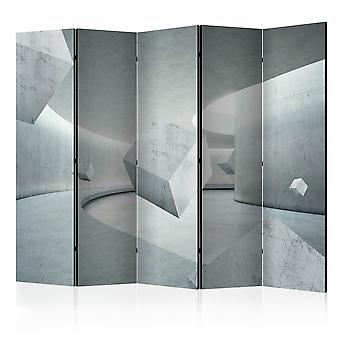 5-teiliges Paravent - Geometry of the Cube II [Room Dividers]