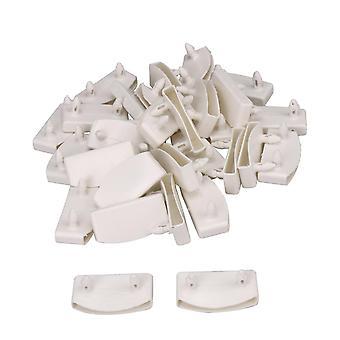 ل30pcs الأبيض الطول الداخلي 55mm البلاستيك سرير Slat نهاية قبعات حاملي ملحق WS3766
