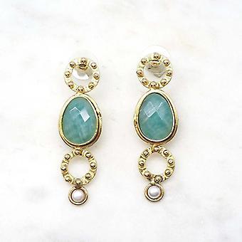 Boucles d?oreilles Niiki Paris - NCE152P - Bleu - Collection Colors