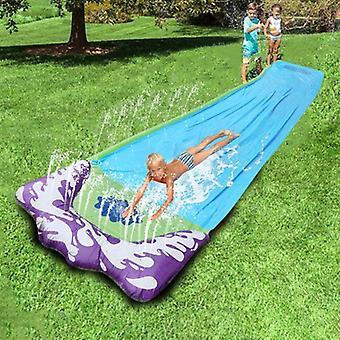 飞溅冲刺水滑梯与脚赛车道和飞溅池玩具后院