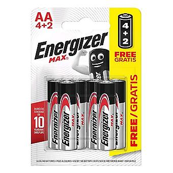 Batteries Max Power Energizer LR06 AA (6 uds)