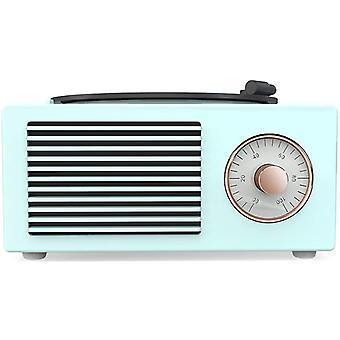 Haut-parleur Bluetooth rétro, radio FM bluetooth rétro, puissant graveur de musique rotatif sans fil, vert
