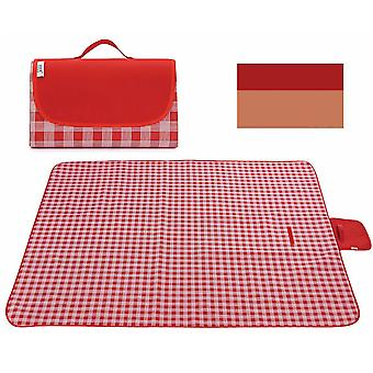 Red 145x180cm outdoor moisture-proof waterproof oxford cloth picnic blanket mat striped park blanket necessary for picnic homi2823