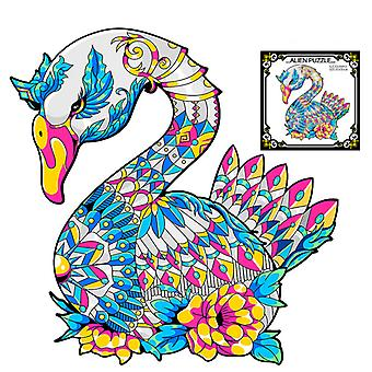 Children's Puzzles Animal Shapes Wood 3d Jigsaw Puzzle Goose-shaped Children Puzzles Gifts